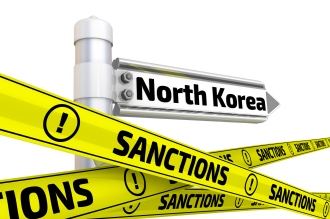Sanctions against North Korea. Concept